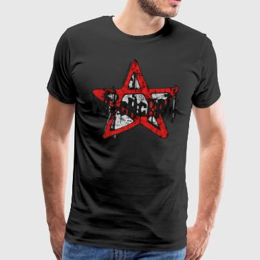 Witch Pentagram Witchcraft Witches Grunge Gothic - Premium-T-shirt herr