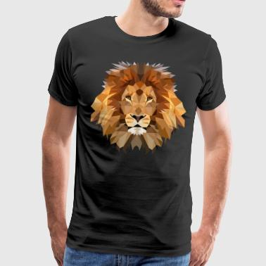 Lion King / Håndlavede polygon Artwork løve - Herre premium T-shirt