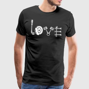 Car race car workshop love - Men's Premium T-Shirt