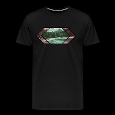 Lake in the mountains - Men's Premium T-Shirt