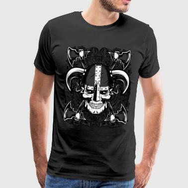 Valhalla Viking with ax and shield T-Shirt Tee - Men's Premium T-Shirt