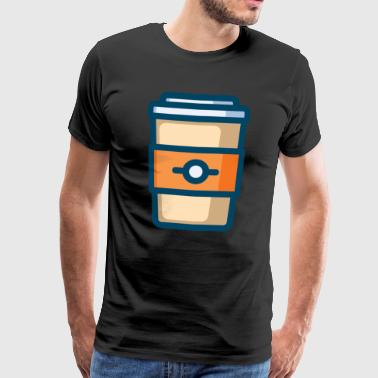 Coffee / Cafe / Caffeine / Caffeine / Starbucks - Men's Premium T-Shirt