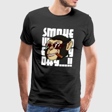 Cannabis monkey smoke weed every day! pothead - Men's Premium T-Shirt