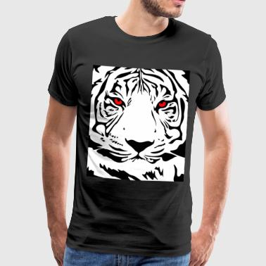 Tieger, animal, animals, cat, wildcat, big cat, nature - Men's Premium T-Shirt