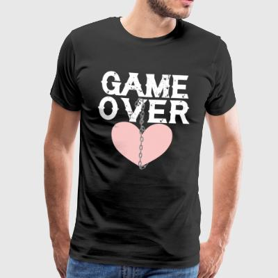 Love game over chain broken heart separation end - Men's Premium T-Shirt