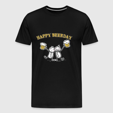 Happy Birthday Beerday - Männer Premium T-Shirt