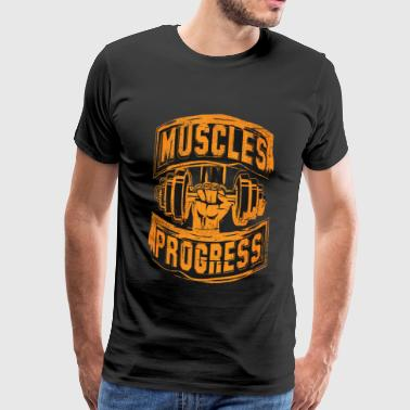 Muscles are the source of fitness enthusiasm - Men's Premium T-Shirt