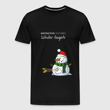 SNOWMAN - Instinctive Archery winter targets - Men's Premium T-Shirt