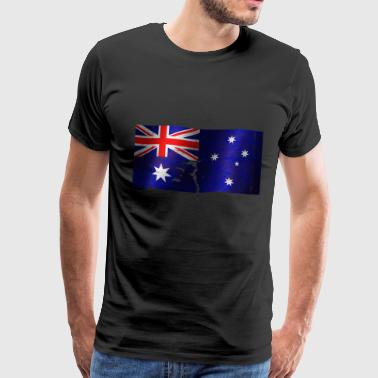 Australia flag cool vintage used sport look - Men's Premium T-Shirt