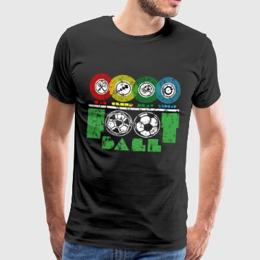 Football - Soccer - Eat Sleep Soccer Repeat - Men's Premium T-Shirt