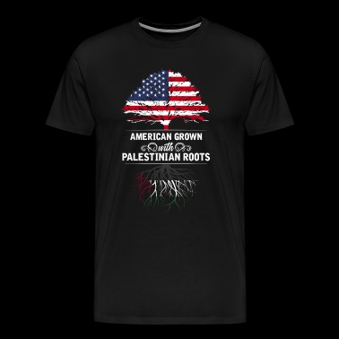 American grown with Palestinian roots - Men's Premium T-Shirt
