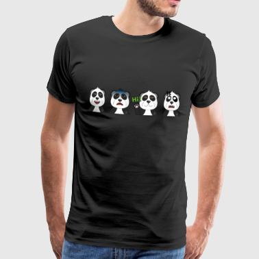 Emotional pandas - Men's Premium T-Shirt