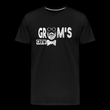 groom's crew used look - Men's Premium T-Shirt
