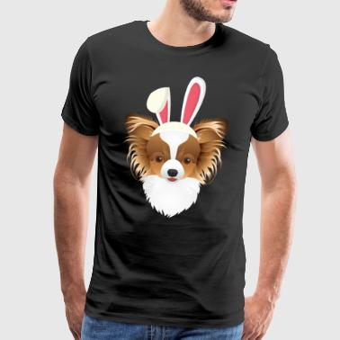 Miniature chipmunk Papillon Easter Bunny Happy Easter Gesch - Men's Premium T-Shirt
