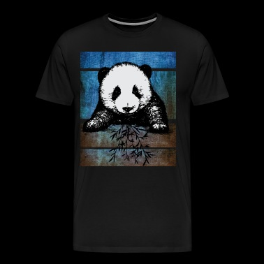 Panda Sweet Graffiti Love Pop Art - Men's Premium T-Shirt