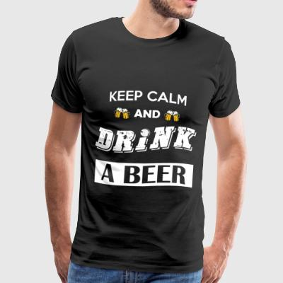Keep calm and drink a beer - Men's Premium T-Shirt