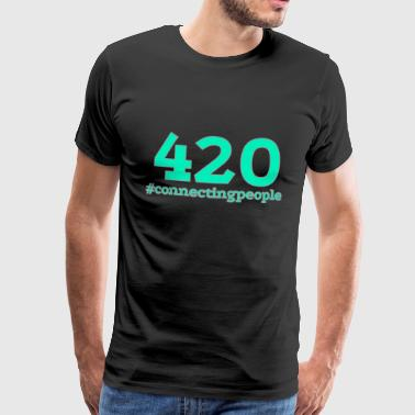 420 - #connectingpeople - Men's Premium T-Shirt