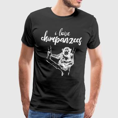 I love chimpanzees - Men's Premium T-Shirt