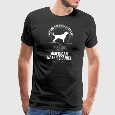 AMERICAN water spaniel Guardian Angel Wilsigns - Herre premium T-shirt