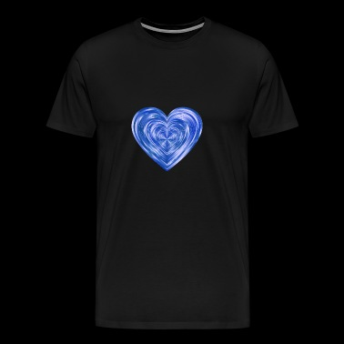 Glittering heart blue - Men's Premium T-Shirt