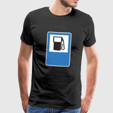 Road sign gas station - Men's Premium T-Shirt
