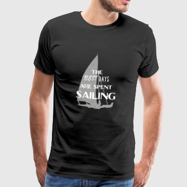 Sailing sailors water sports sailboat gift dinghy - Men's Premium T-Shirt