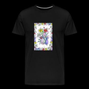 Colorful flowers - Men's Premium T-Shirt