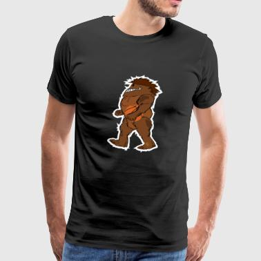Bigfoot Sasquatch Basketball Comic - Men's Premium T-Shirt