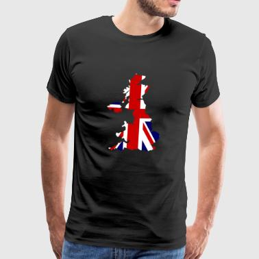 UK Map Flag - Men's Premium T-Shirt