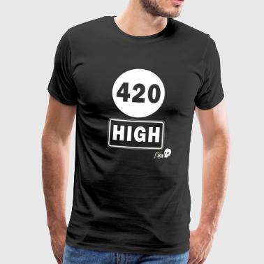 420 HIGH - Premium-T-shirt herr