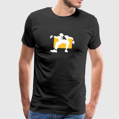 Een Manager Zitten Lazily On The Armchair - Mannen Premium T-shirt