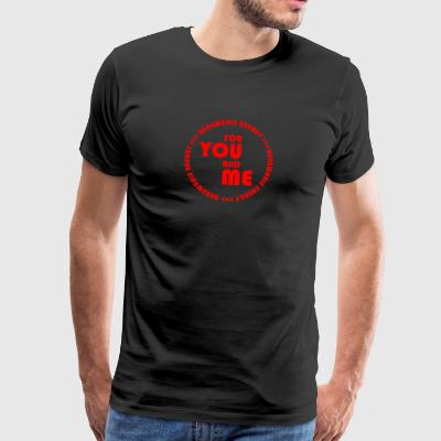 RENEWABLE ENERGY for you and me - red - Men's Premium T-Shirt