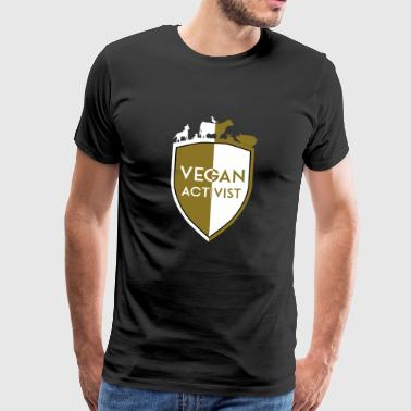 VEGAN AKTIVIST SHIELD DIVISION - Premium T-skjorte for menn