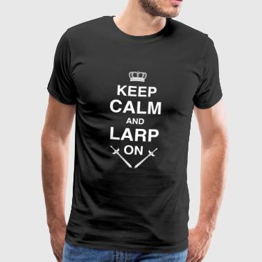 Keep Calm LARP, RPG, RPG, Fantasy - Herre premium T-shirt