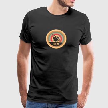 Drums Retro - Men's Premium T-Shirt