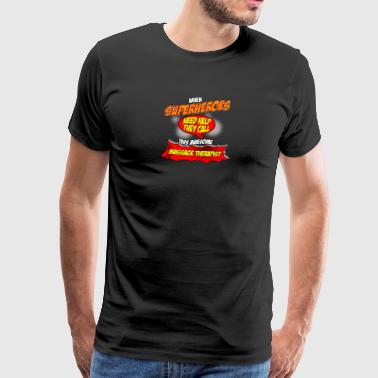Super hero gift funny occupation masseur - Men's Premium T-Shirt