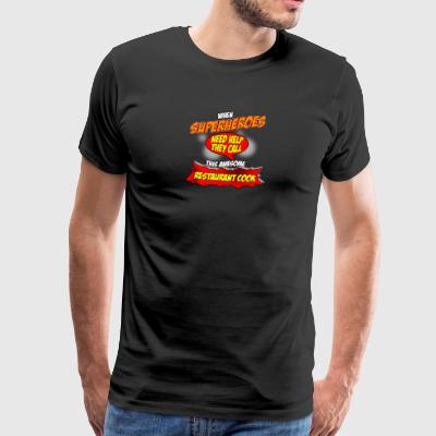 Superhero gift funny profession cook cook - Men's Premium T-Shirt