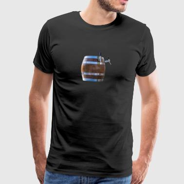 Beer keg, tap - Men's Premium T-Shirt