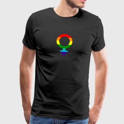 Gay pride rainbow women symbol - Men's Premium T-Shirt
