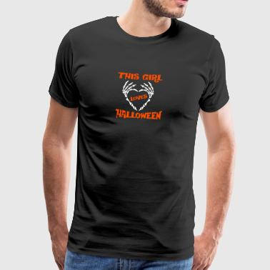 this girl loves halloween spruch gift - Men's Premium T-Shirt