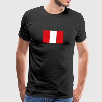 National Flag Of Peru - Premium T-skjorte for menn