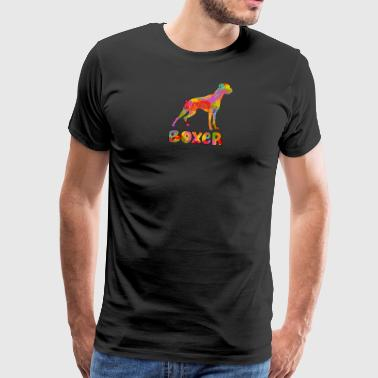 Boxer Multicolored - Men's Premium T-Shirt
