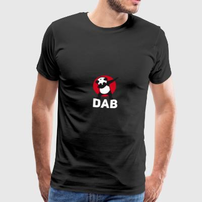dab panda tamponnant touché juste tamponner le football r - T-shirt Premium Homme