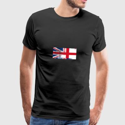 British English Halv Halv England UK Flag - Herre premium T-shirt