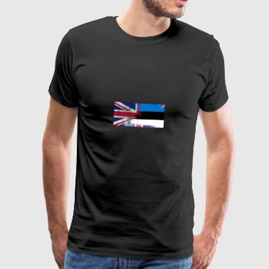 British Estonian Half Estonia Half UK Flag - Men's Premium T-Shirt