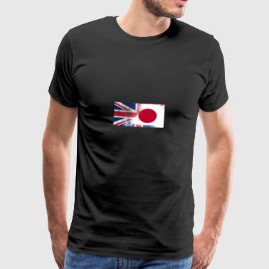 British Japanese Half Japan Half UK Flag - Men's Premium T-Shirt