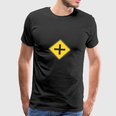 Road Sign 4 ways yellow - Men's Premium T-Shirt