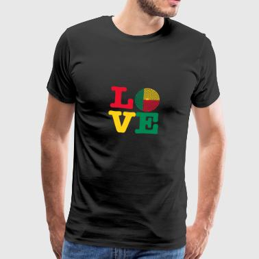 Benin heart - Men's Premium T-Shirt
