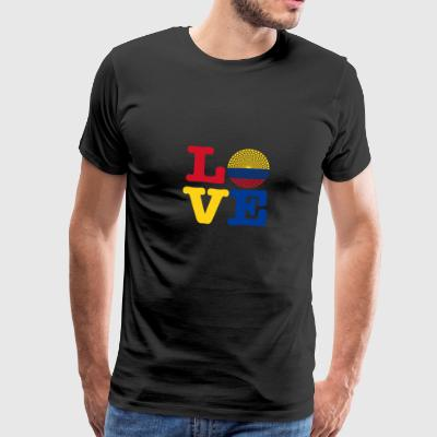 Colombia HEART - Premium T-skjorte for menn