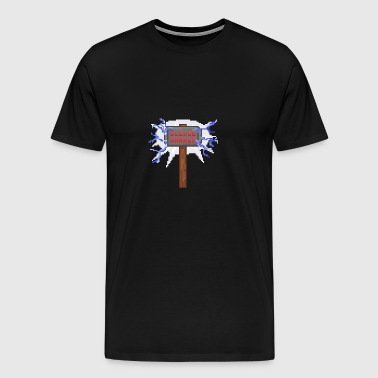 Sledge hammer Pixel - Men's Premium T-Shirt